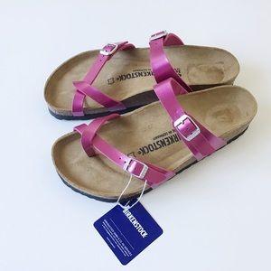 NWT BIRKENSTOCK 'Mayari' Birko-Flor Sandals Sz 40